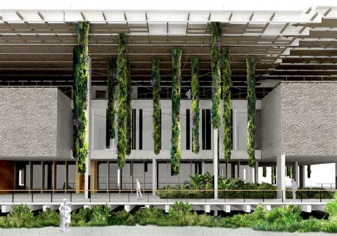 Vertical Gardens Miami Blanc Enlivens The Perez Museum With Hanging