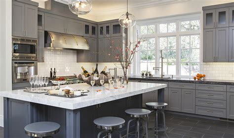 gray blue kitchen cabinets kitchen cabinetry blue gray color home ideas interior design