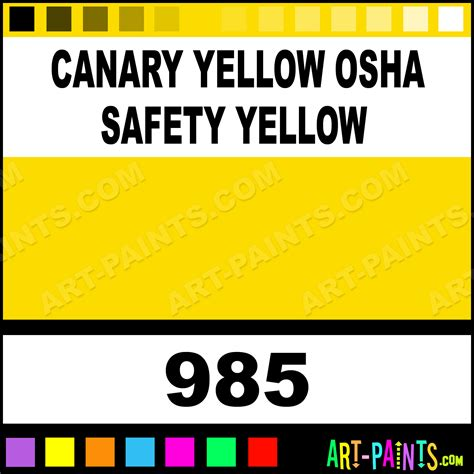 canary yellow osha safety yellow heavy duty auto spray paints 985 canary yellow osha safety