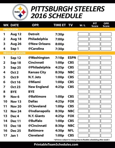 printable nfl season schedule five see printable nfl schedule autos post