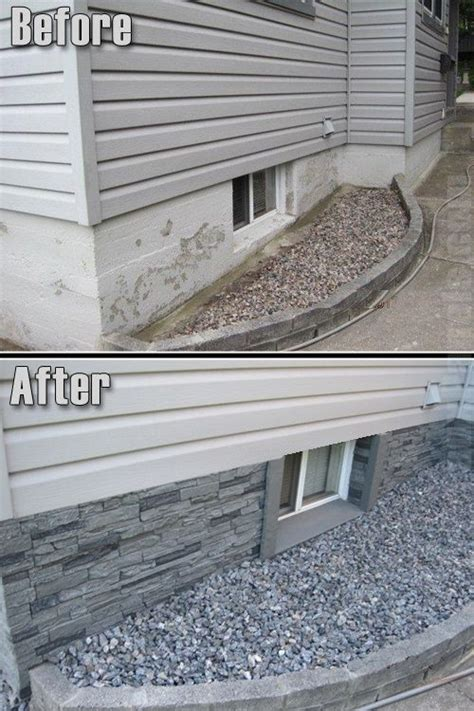 concrete basement walls hide the flaky outside concrete wall of your home with veneer looks so much better