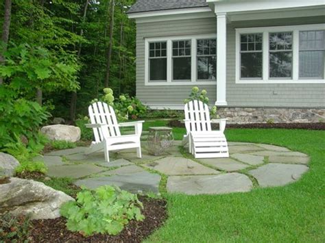 Small Flagstone Patio by Great Lakes Landscape Co Guide