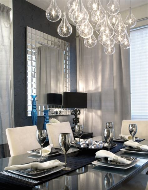 tear drops chandelier contemporary dining room design