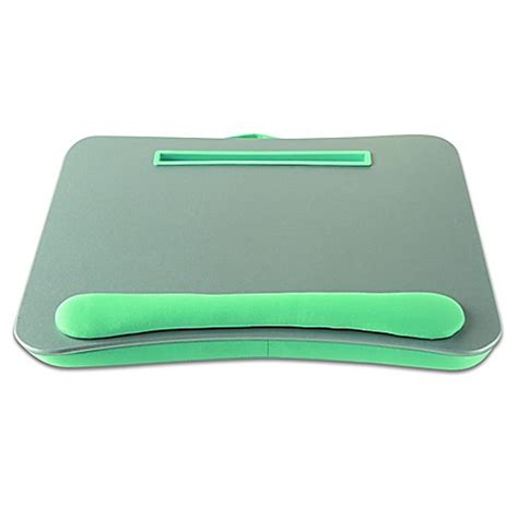 portable lap desk bed bath and beyond portable lap desk with media slot in silver aqua bed