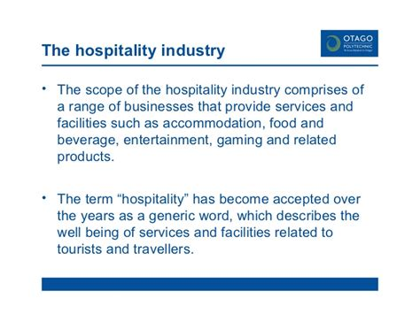 Mba In Tourism And Hospitality Management Scope by Introduction To Hospitality Industry