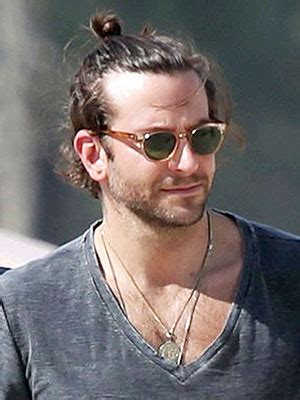 perfect top knot men stylenoted bradley cooper s mansome take on the top knot