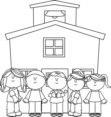 school clipart black and white black and white school at school clip black and