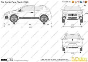 Fiat Punto Dimensions The Blueprints Vector Drawing Fiat Grande Punto Abarth