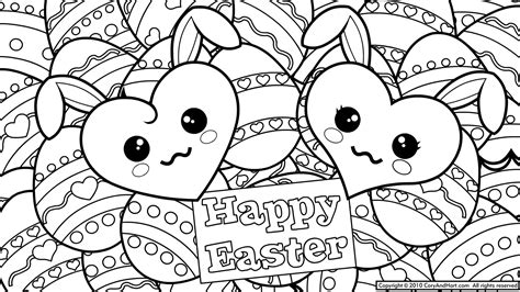 Cute Easter Coloring Pages To Print   13 cute easter coloring pages
