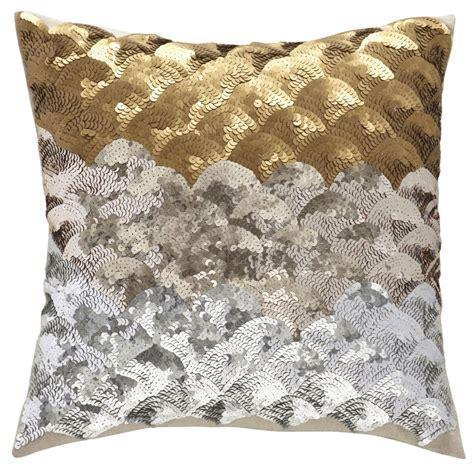 Metallic Throw Pillows by Children S Happy Throw Pillows Sequins