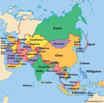map of asian countries 1000 ideas about asia map on map of asia