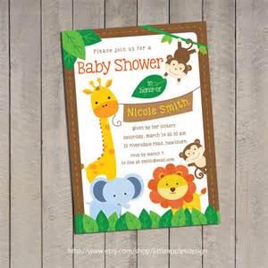 safari baby shower invitation jungle safari baby shower