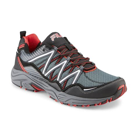 mens fila sneakers fila s headway 6 gray black trail running shoe