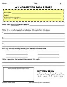 book report template for 2nd grade 2nd grade biography book report form hoppin pumpkin