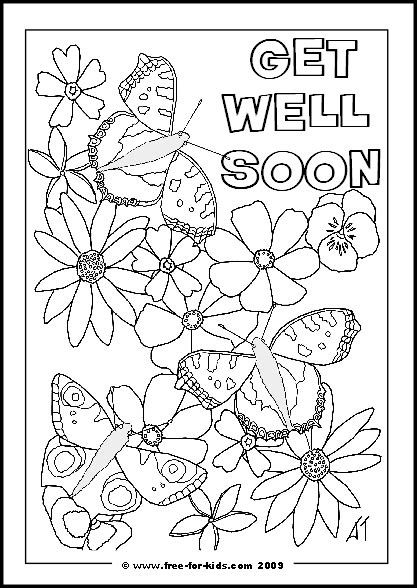 get well soon coloring print coloring pages
