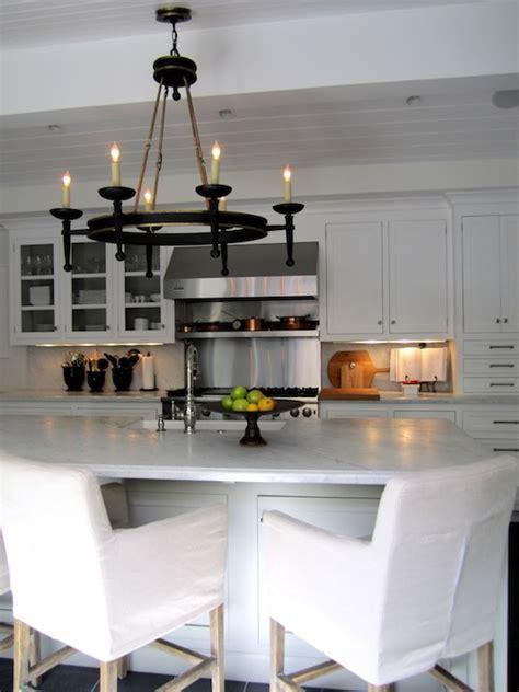 Linen Slipcovered Bar Stools Design Ideas