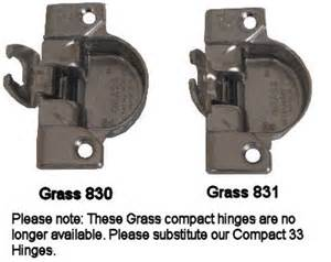 grass kitchen cabinet hinges grass 830 and 831 hinges hardwaresource