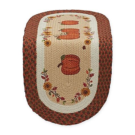 36 inch table runner country pumpkin 36 inch braided table runner bed bath
