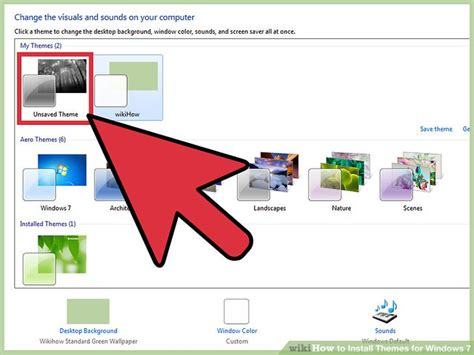 themes for windows 7 how to install how to install themes for windows 7 with pictures wikihow