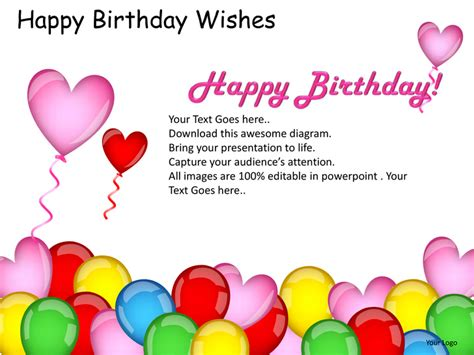birthday card email template happy birthday wishes powerpoint presentation templates