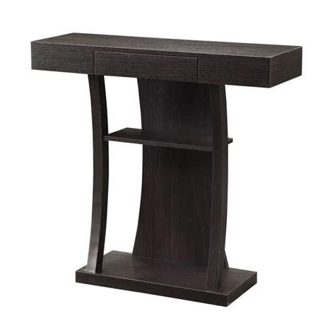 2 shelf console table coaster 2 shelf t shaped console table in cappuccino 950048
