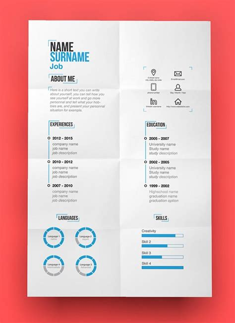 contemporary resume templates free free modern resume template psd freepsdfiles freebies
