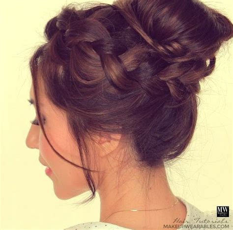 hairstyles buns and updos cute messy bun hair tutorial hairstyles for school prom