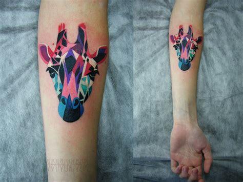 geometric giraffe tattoo sasha unisex tattoo artist the vandallist