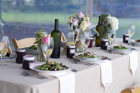 simple backyard wedding reception outdoor real wedding simple reception centerpieces