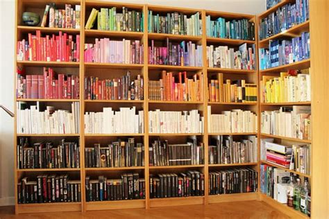 diy rainbow bookshelf organize your books by color