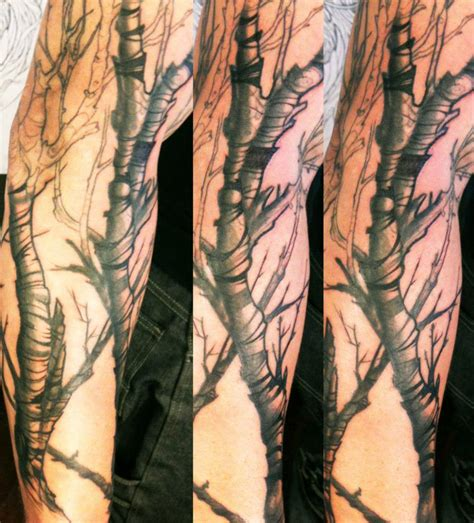 birch tree tattoo birchybirchy