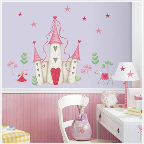 princess castle wall stickers princess castle removable wall decals princess castle trees hearts and unicorns