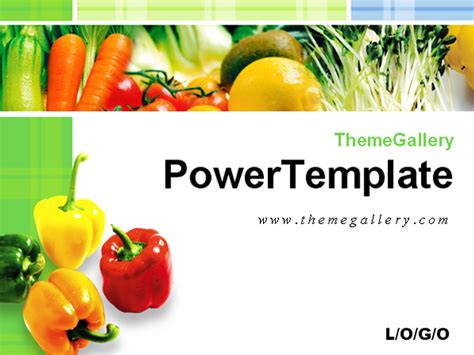 free powerpoint templates food and beverage fresh