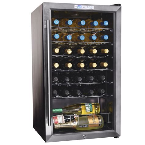 best wine coolers newair 33 bottle compressor wine cooler awc 330e the home depot
