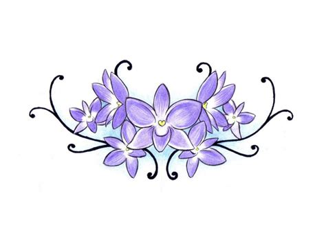 purple flower tattoo designs dongetrabi black orchid flower images