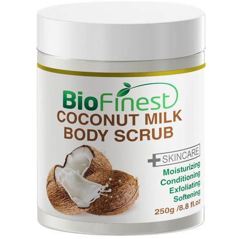 Scrub Milk Coconut coconut milk scrub with dead sea salt almond