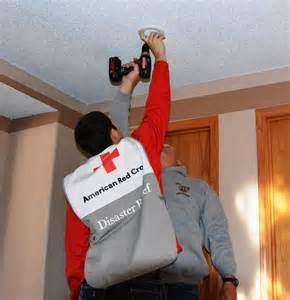 install smoke detector revealing our red cross superheroes