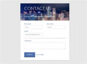 contact html template 20 free html css contact form templates designerslib