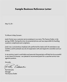 Business Letter Your Reference Sample Reference Letter 8 Examples In Word Pdf
