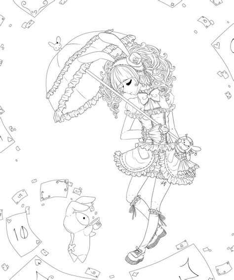 deviantart coloring pages anime lolita coloring pages shappo lolita lineart by