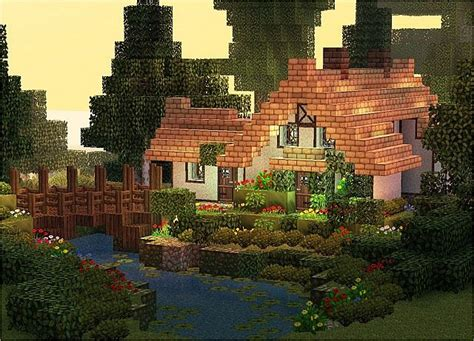 1 Level House Plans by Stream Cottage Minecraft Project