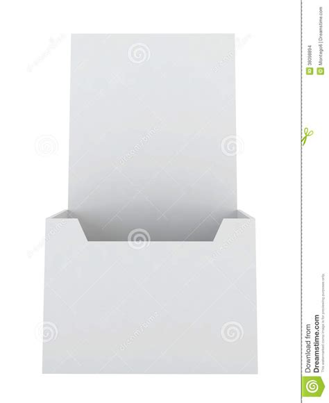 blank brochure holder stock images image 38098894
