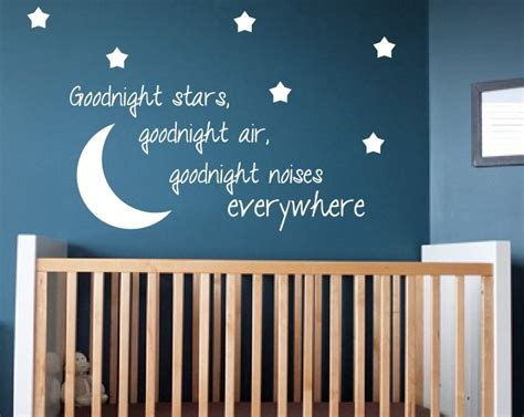 kids bedroom quotes kids room wall decal goodnight moon quote nursery decor home decor 15 95 via etsy