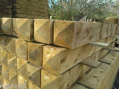 ft     treated wooden gate fence posts field