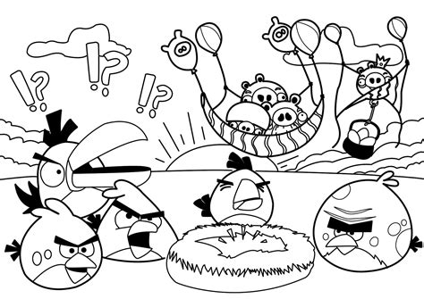 coloring pages with angry birds angry birds coloring pages free large images