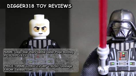 Pogo Minifigure Wars Series Darth Vader Pg 633 lego wars jabba vader pogo bootleg pg 629 pg 633 review