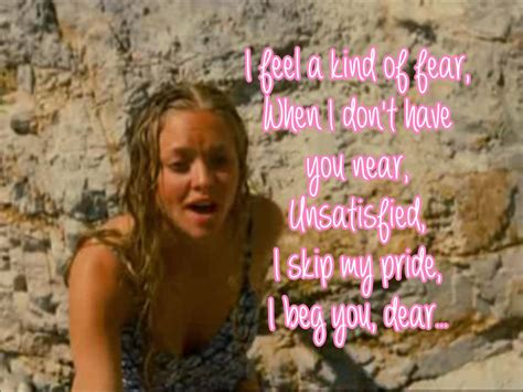amanda seyfried lay all your love on me lyrics mamma mia the movie lay all your love on me lyrics video