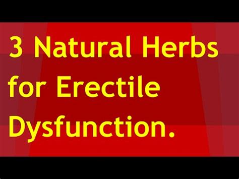 3 herbs for erectile dysfunction