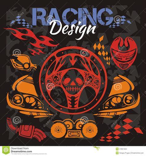 street racing design elements vector racing design vector elements for emblem stock vector