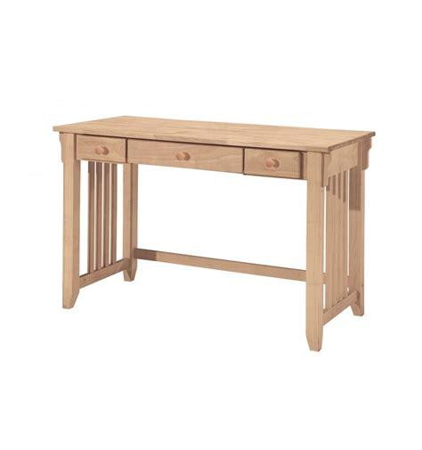 Mission Computer Desk 47 Inch Mission Computer Desk Bare Wood Wood Furniture Groton Ct
